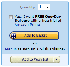 Amazon's 'Add to Basket' and 'Add to wishlist' buttons