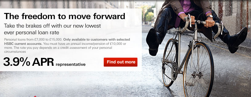 Image used on the HSBC homepage