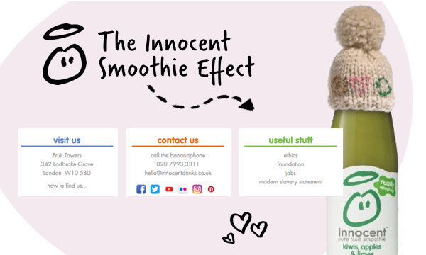 Image showing Innocent's contact page copy