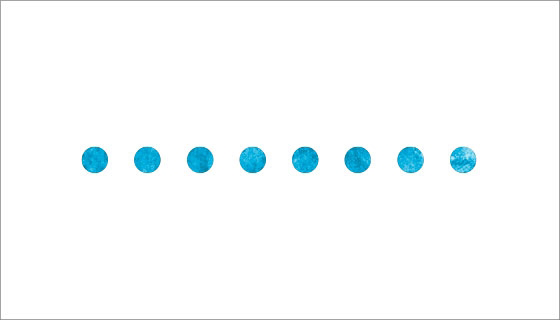 Line of dots