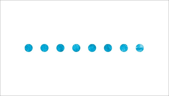 Line of 8 dots in a row