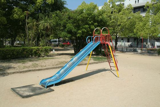 A slide in a children's playground