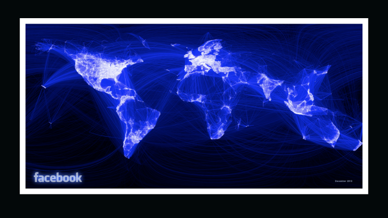 A map of Facebook connections