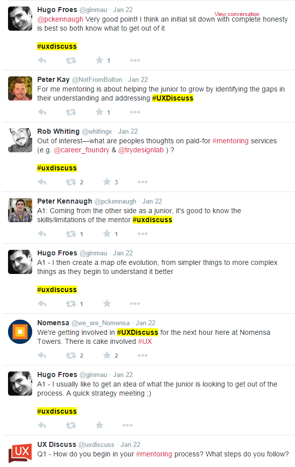 UX discuss twitter timeline example