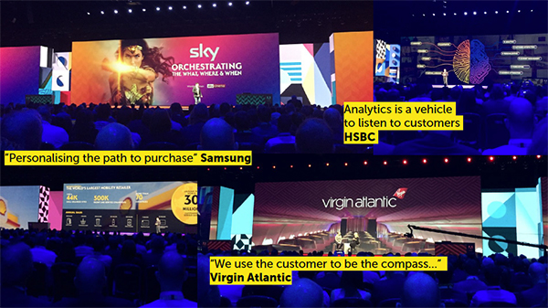 """""""Analytics is a vehicle to listen to customers"""" - HSBC, """"We use the customer to be the compass"""" - Virgin Atlantic"""