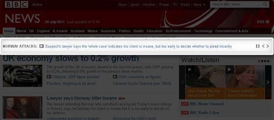 BBC News Ticker
