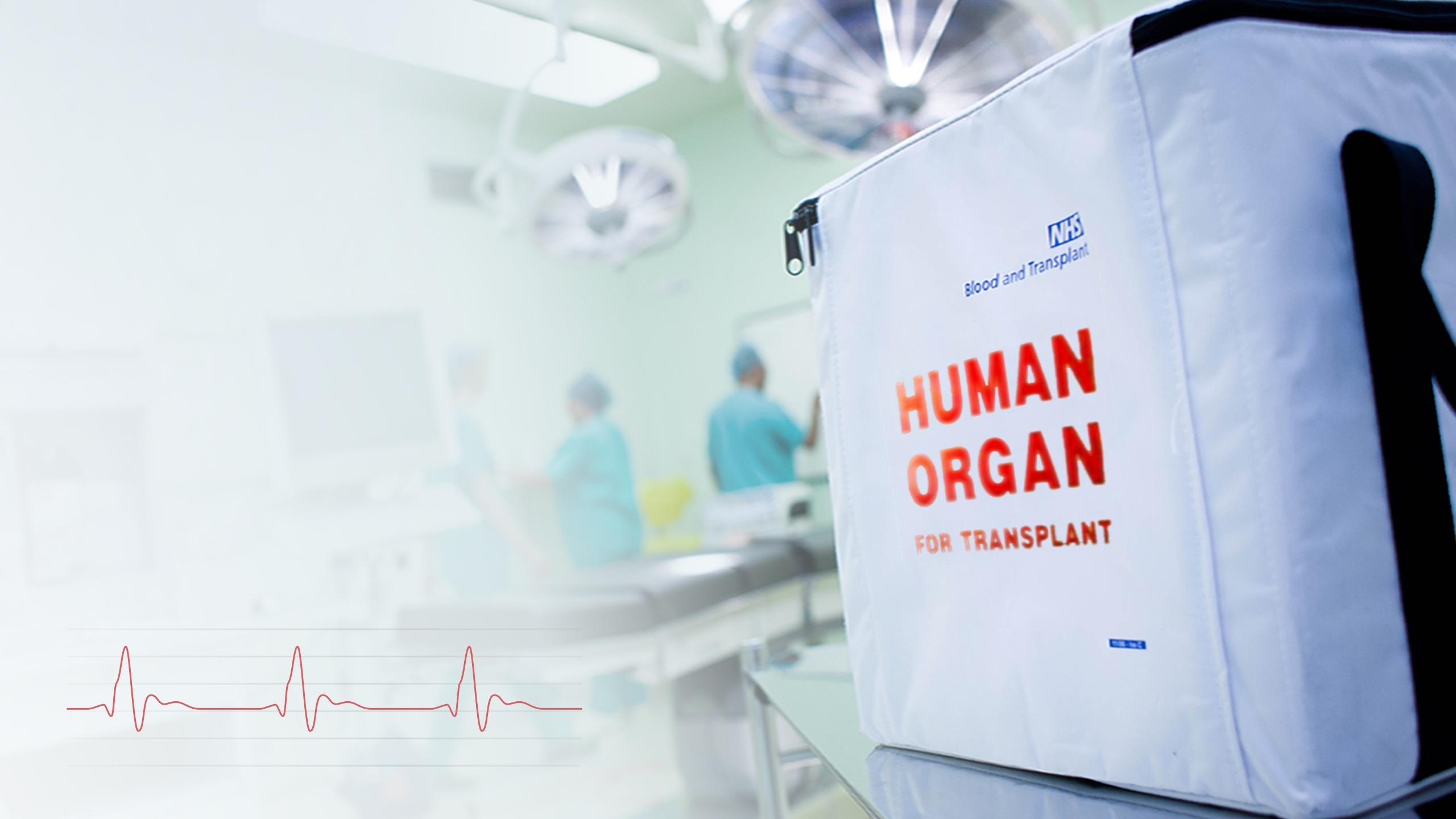 NHS organ transportation bag