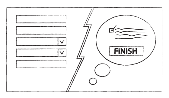 Visualising the finish line of a form