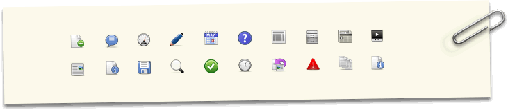 A collection of icons with one lone red icon amongst them