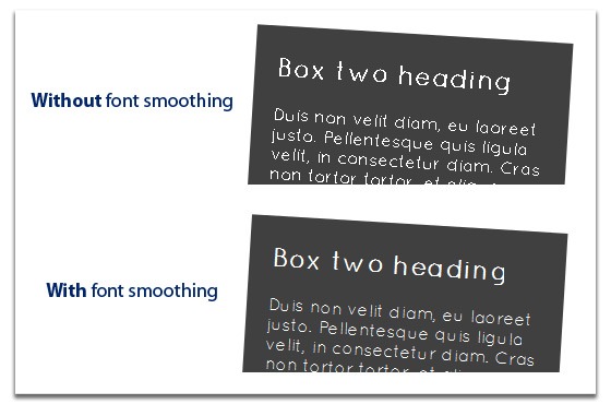 Example of font rendering with font smoothing disabled=