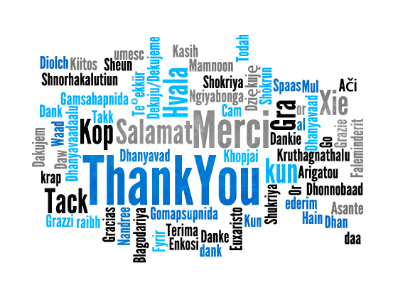 Thank you in many different languages