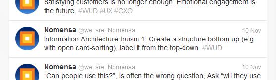 Twitter screenshot showing the first IA truism.