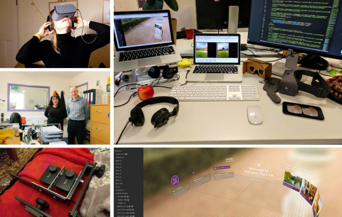 a grid of images that show our VR work with the National Trust